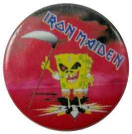Iron Maiden - 'Sponge Eddie' Button Badge